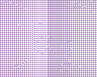 Light Purple Gingham Cardstock