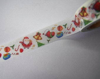 Cute Christmas Santa Claus Christmas Tree and Stockings Japanese Washi Tape for Scrapbooking, Planning and Journalling!