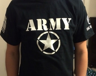 Personalized Army Tshirt With Rank and Name