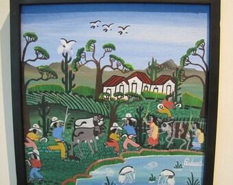 Mexican Folk Art - Farming