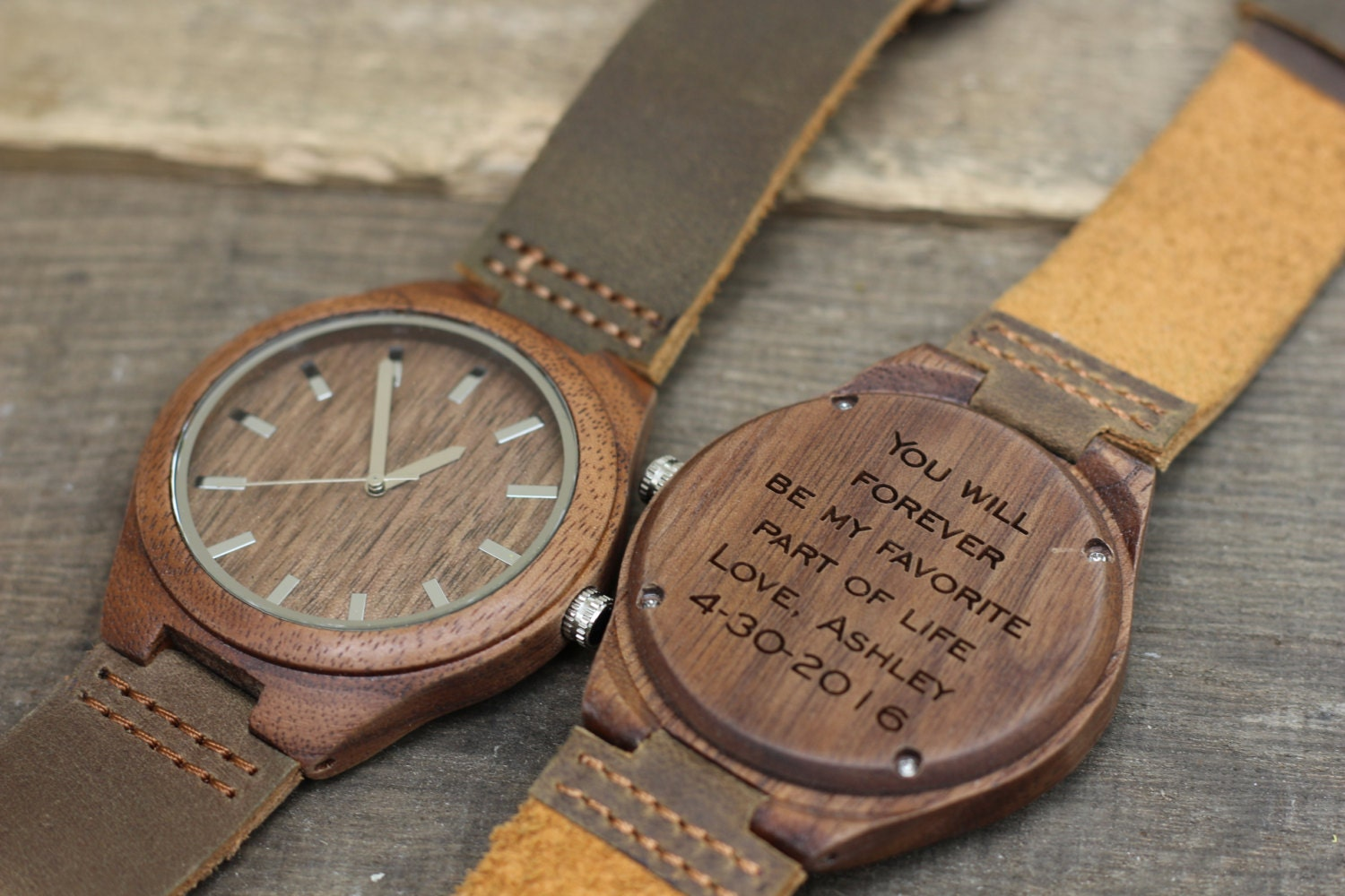 Wood watch havern engraved wooden watch wood watch for men for Watches engraved