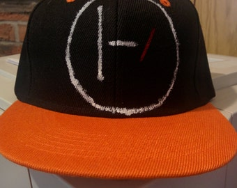 21 Pilots hand painted snap back