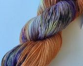 """SunDancer 100 gr/463 yds - hand dyed fine fingering sock weight yarn, colorway """"Where is my Broom"""""""