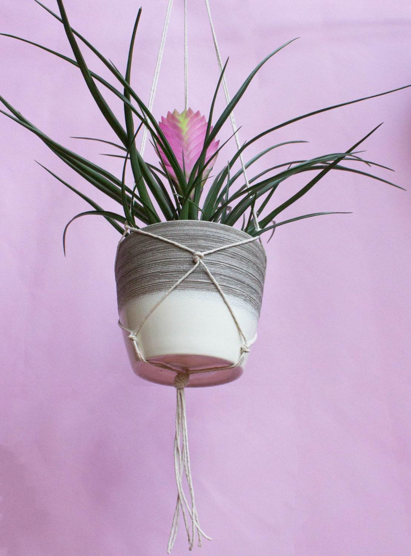 Modern Hanging Planter White
