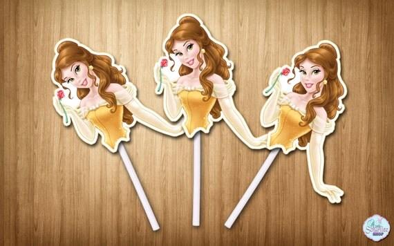 Princess Belle Cupcake Toppers Disney Princess Belle Cupcake