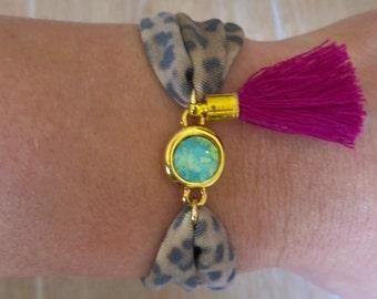 Elastic bracelet, beach bracelet, tassel bracelet, boho bracelet, ibiza bracelet, boho chic jewelry, boho chic bracelet, bohemian bracelet