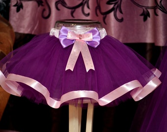 Purple tutu Pink Ribbon Tutu Newborn Baby Girls tutu Kids tutu Children's tutu Photo prop Birthday tutu Skirt size  Children's tutu set