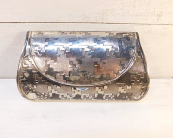 Vintage Metal Clutch Handbag, Made In Italy For Morle Purse