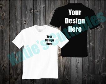 T-Shirt Design Mock Up, T-Shirt, Mock Up, Different Color T-Shirt Mock Up, Your Design Here
