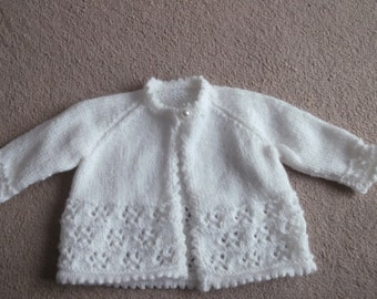 baby cardigan this item can be made in the colour and size of your choice