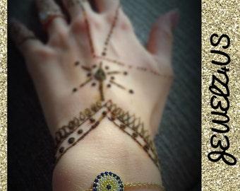 Gold Eye Charm Bracelet