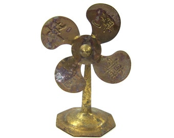 Antique Decorative Brass Fan