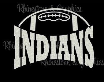 Indians Football Design Pattern Graphic Design Instant Download EPS SVG DXF  Cutting Files Cameo