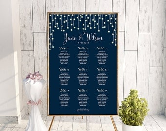Find your Seat Chart, Printable Wedding Seating Chart, Wedding Seating Poster, Wedding Seating Sign, Wedding Seating Board TH65 dd WC127