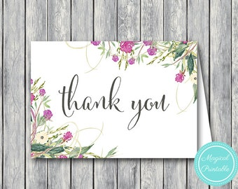 Wedding Thank you cards, Foldable Thank you notes, Wedding Favor Cards, Shower Favors, Bridal Shower Thank you cards, Favors WI35
