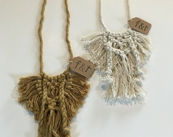 Macrame Fringe Necklace