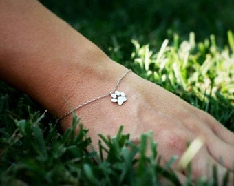 Small Paw Print Bracelet • Paw Bracelet • Dog Paw • Cat Paw • Paw • Paw Jewelry • Paw Print • Silver Paw • Silver bracelet • Jewelry