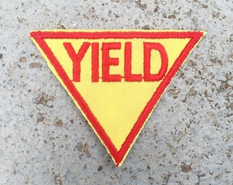 Vintage YIELD Sign Patch