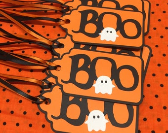 "Halloween ""Boo"" Gift Tags - Halloween Tags - Gift Tags - Party Bag Tags - Goody Bag Tags - Halloween"