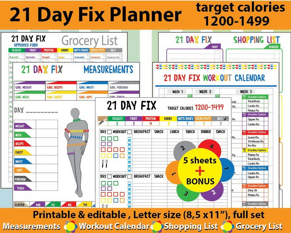 Unusual image in 21 day fix printable
