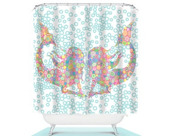 Mermaid Shower Curtain Unique Curtains Girl Bathroom Decor Extra