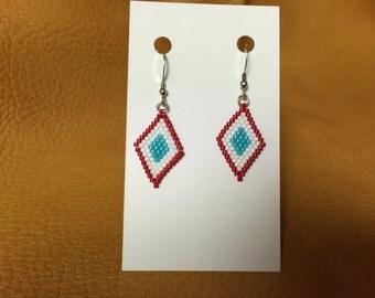 Peyote Earrings Native American Design