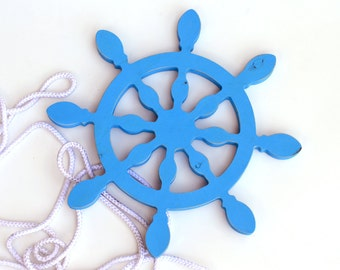 Ships Wheel - Ship Helm - Nautical wheel - Helm  - Wooden helm - Beach decore - Rustic Nautical Ship Wheel