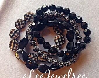 Beaded Stretch Women's Mutli Strand Bracelet