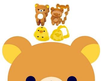 Rilakkuma Cookie Cutter Sandwich Cutter Bear Biscuit Mold Fondant Mold Cookie Plunger Relax Bear Japanese bento mold