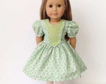 Vintage 40's Era Dress for the American Girl or Other 18 Inch Doll