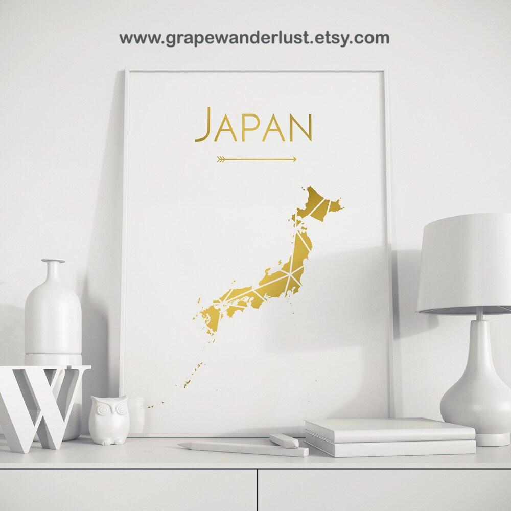 Japan Art Japan Map Japan Wall Art Japan Print Japan Poster - Japan map poster