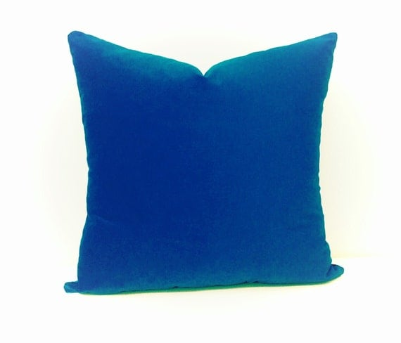 Royal Blue Velvet Pillow CoverBlue PillowsVelvet by artdecopillow