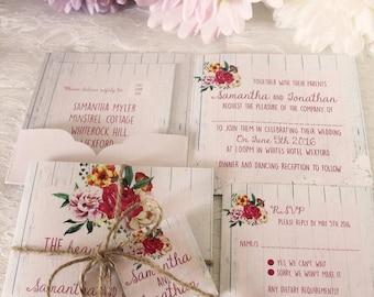Wedding Invitation (Vintage Beauty)