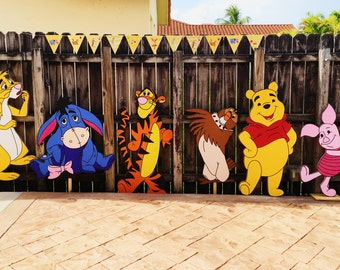 Winnie The Pooh Cutouts - Winnie the Pooh Cut Out - Winnie the Pooh Party -Winnie the Pooh Decor - Winnie the Pooh Birthday Party - 100 acre