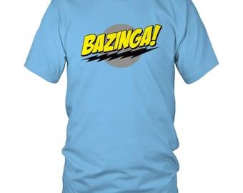 Big Bang Theory Sheldon Bazinga Logo Classic Funny Sci-Fi Comedy Red Fla