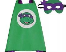 Ninja Turtles Cape and Free Mask - purple                **On Sale**