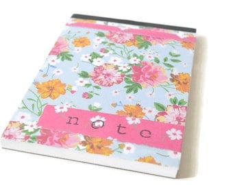 Notebook with Flowers 'Note'