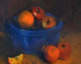 ORIGINAL Pastel Still Life Fruit Painting, Original Art, Impressionist, Oranges Fine Art Painting, Affordable Art Home Decor Living Room Art