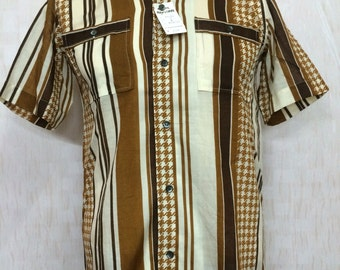 Vintage Deadstock With Tags 70s King' VAN Double Pocket Japan Brand Shirt