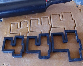 Number Four Cookie Cutter, Number 4 Cookie Cutter, Birthday Cookie Cutter, 4th Birthday, Wedding Anniversary, Fondant Cutter