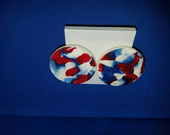 Red White and Blue stud earrings
