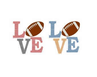 Football Chevron Love SVG, Studio 3, DXF, AI, ps and pdf Cutting Files