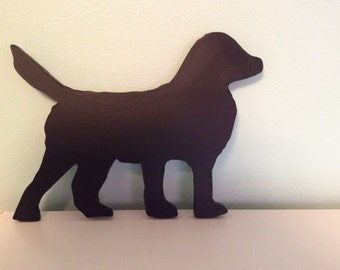 Dog silhouette blackboard or chalkboard