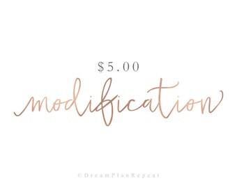 Modification 5.00 | DreamPlanRepeat