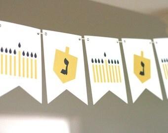 Menorahs and Dreidels Hanukkah Banner