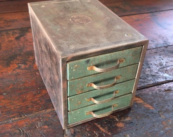 Mini industrial metal drawers