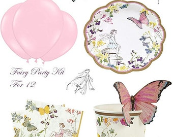 Truly Fairy Tea Party Kit For 12 Butterfly Garland & Invites