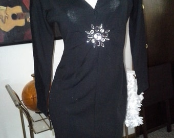 Short version of 80's jeweled wiggle style dress