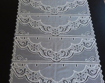 French lace cafe curtains