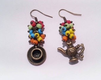 Teapot and Cup Earrings AR006/AR186